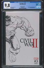 Civil War II #3 (CGC 9.8 NM/MT) (Marvel 2016) Death of Hulk! Quesada Variant!