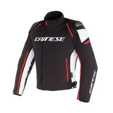 Giacca moto Dainese Racing 3 Dry black white red fluo taglia 50 jacket