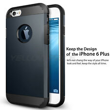 "Ultra Slim Armor Dual Layer Case Cover for iPhone 6 Plus (5.5"") - Metal Slate"