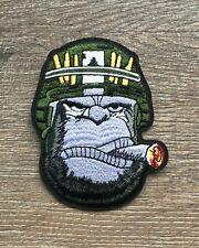 Gorilla Patch Aufnäher Bügelbild Primatengattung Silberrücken Zigarre Urwald