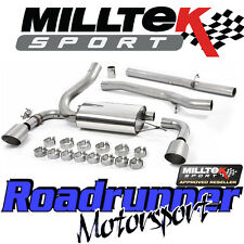 "MILLTEK Focus RS MK3 2016 sul sistema di scarico 3"" Cat Indietro Non Res spazzolato titanio"