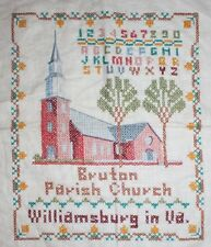 Paragon Williamsburg Bruton Parish Hand Embroidery Cross Stitch Completed