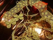 coton ancienne mercerie ,dentelle ,picot  5m,50 en tout  ,fleurs déco