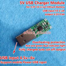 5V USB Charger Module for 1S 3.7V Lithium Li-ion Li-Po 18650 Battery Cell 4.2V