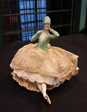 ART DECO PORCELAIN FIGURINE PIN CUSHION # 1