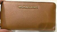 Michael Kors Jet Set Travel Medium Pebbled Leather Multifunction Z/A Wallet