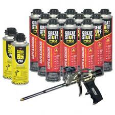 Dow Great Stuff Pro Gaps And Cracks 24oz Case Of 12 Foam Gun 2 Cans Cleaner