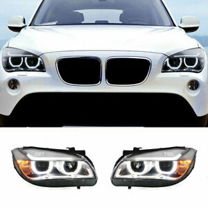 For BMW X1 LED Headlights Projector LED DRL Replace OEM Halogen 2011-2015