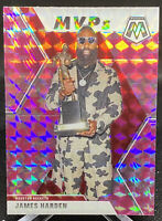 James Harden 2019-20 Panini Mosaic SP MVP Pink Camo Mosaic Prizm #296 Rockets