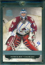 2015 16 UPPER DECK BUYBACKS: 2011 12 THE CUP PATRICK ROY 249/249 AUTO 2/5