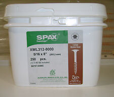 "SPAX XWL Log Timber Lag Screws/Bolts 8"" Washer Head 250 Per Bucket"