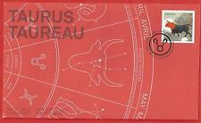 2011  Canada   OFDC # 2450 Taurus   Sign of the Zodic   New and  Unaddressed