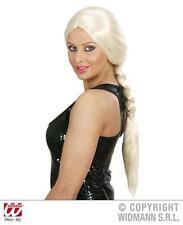 Long Blonde Plait Wig Hollywood Glamour Model Pop Star Fancy Dress