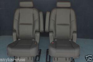 2014 2013 2012 2011 2010-2007 Escalade ESV 2nd Row Bucket Seats in Black Leather