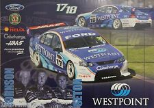 V8 Supercars DJR Westpoint Poster Excellent Condition Never Hung and Stored Flat