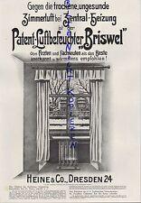 DRESDEN, Werbung 1918, Heine & Co. Patent-Luft-Befeuchter Briswel Heizung