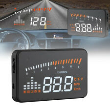 X5 OBD II Universal Car Kit Head Up LED Display HUD Fuel Speed Warning 3 inch