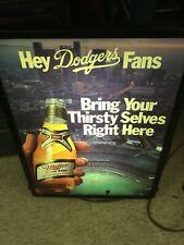 Vintage Miller High Life Dodgers Light Up Sign Advertising Baseball Beer
