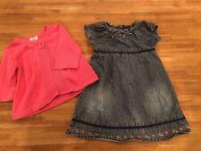 Girls 3t Lot Denim Dress Cardigan EUC Baby Gap, Circo