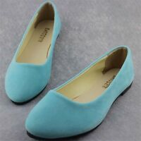 Women's Casual Ballet Shoes Ballerina Loafers Suede Slip On Lazy Peas Flats
