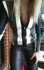 Helmut Lang Pax Combo Leather Jacket sz M Aust 8 RRP US$1265