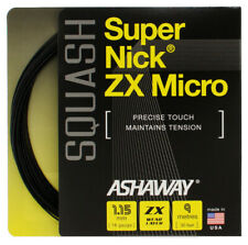 Rrp $180 Ashaway Supernick Zx Micro Squash Racket String - 9m Set Black