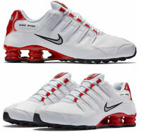 New NIKE Shox NZ Premium Running Shoes Mens white red all sizes