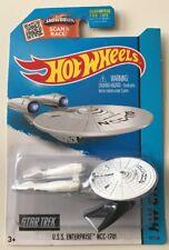 Hot Wheels 2015 STAR TREK U.S.S. ENTERPRISE NCC-1701 WHITE * Super Fast Ship 11C