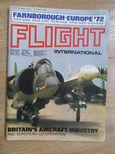 Farnborough-Europe 1972 Show Guide Flight International Magazine