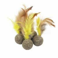 1pc Catnip Toys Soft Feather Cat Toy Ball Treats Interactive Toys For Kittens