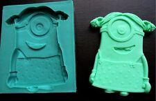 Silicone Mould MINION GIRL Sugarcraft Cake Decorating Fondant / fimo mold