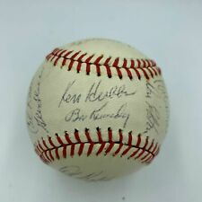 1963 Chicago Cubs Autographed Ball JSA Ken Hubbs Banks Santo Williams Brock HOF