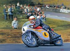 Mike Hailwood Honda RC181 500 Isle of Man TT Racing Classic Motorbike Art Print