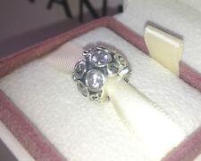 AUTHENTIC Pandora Silver Ornate C ubic Zirconia Bead 790330CZ