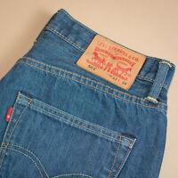Levi 501 Jeans Blue Straight Button Fly Unisex Vintage (PatchW33L34) W 32 L 33