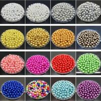 Wholesale 4-14mm Mixed Color ABS Plastic Pearl With Hole Beads Accessories DIY