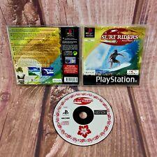 PS1 Playstation 1 Juego SURF RIDERS Gerry Lopez Con Estuche PAL Surfista Deportes De Agua