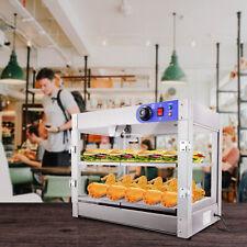 Commercial Food Warmer Countertop Heat Food Pizza Display Warmer Cabinet 2 Tier