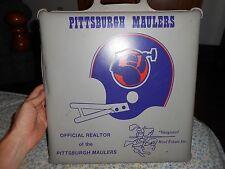 Vintage 80's Authentic Pittsburgh Maulers Usfl Padded Seat Cushion Rare