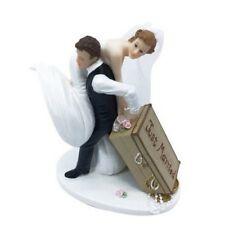 Figurine de mariage Sujet résine couple de mariés je t'emmène avec moi
