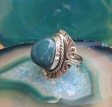 Anneau Alpaga Argent Agate Bleu Pierre de Pérou Ethno Inca Maya Indien Style 39