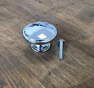 Polished Chrome Door Knobs Cupboard Drawer Knob Furniture Handle Kitchen Cabinet