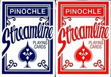 Pinochle Streamline Playing Cards 2 Deck Set Poker Size Plastic Coated USPCC New