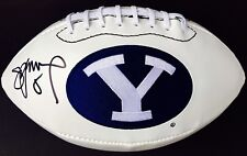 STEVE YOUNG #8 SIGNED BYU COUGARS LOGO  FOOTBALL w/JSA GO COUGS!