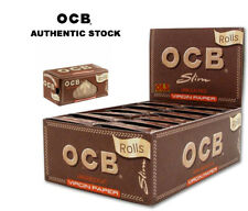 OCB Slim Unbleached Virgin Paper Rolls Smoking Eco Rolling Paper 1/3/6/12/24