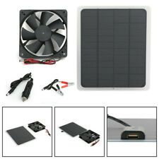 20W Solar Panel Powered Charger Mini Ventilator For Dog Chicken House Rv Car S20