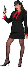NEW SEXY 4 PIECE RETRO GANGSTER GANGSTA LADY HALLOWEEN COSTUME SIZE SMALL 6-8