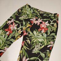Tommy Bahama Women's Size 12 Floral Print Pants 100% Linen