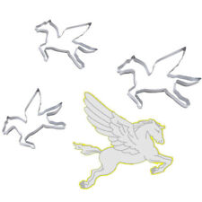 Stainless Steel Pegasus Unicorn Pastry Biscuit Fruit Cookie Cutters Mold DIY SB
