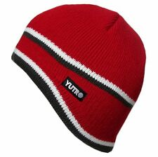 YUTRO Men's Thinsulate Wool Ski Winter Beanie Hat with Fleece Lining RED PRO204C